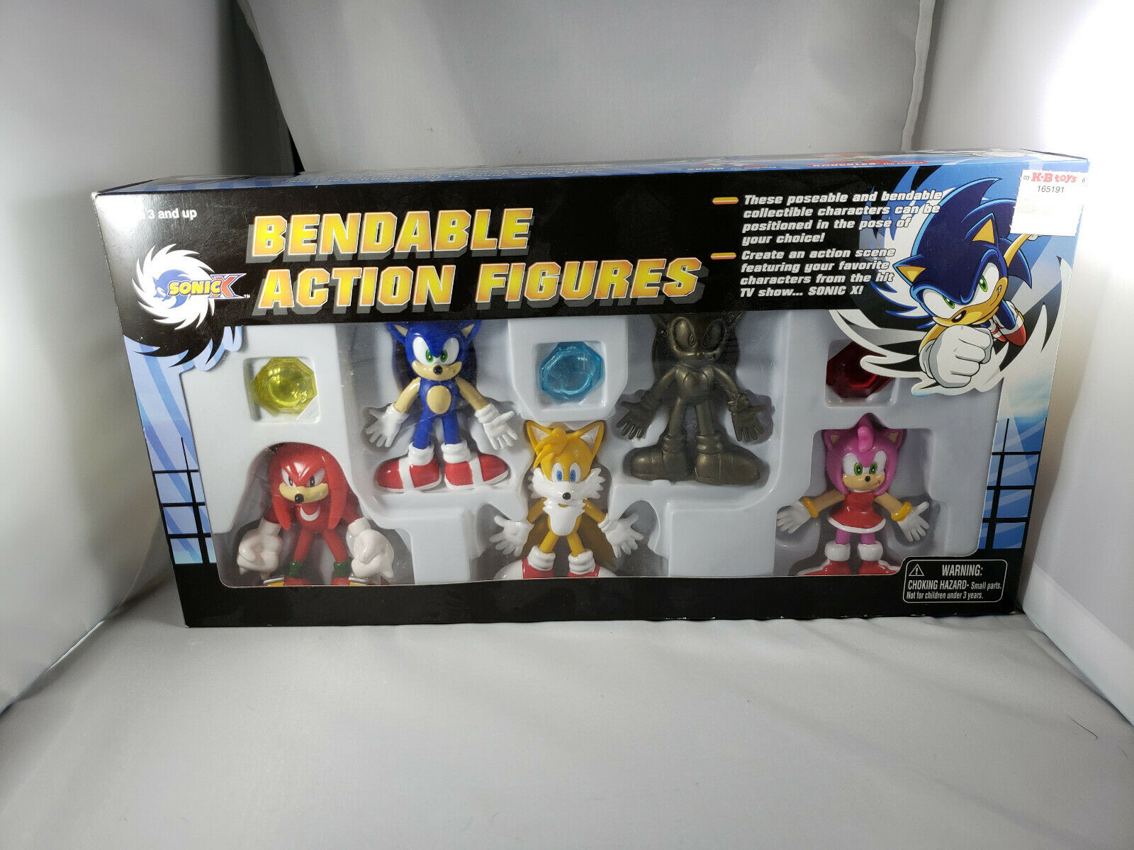 SONIC X BENDABLE Action FIGURES with guld Sonic låda Set five pc begränsad Edition