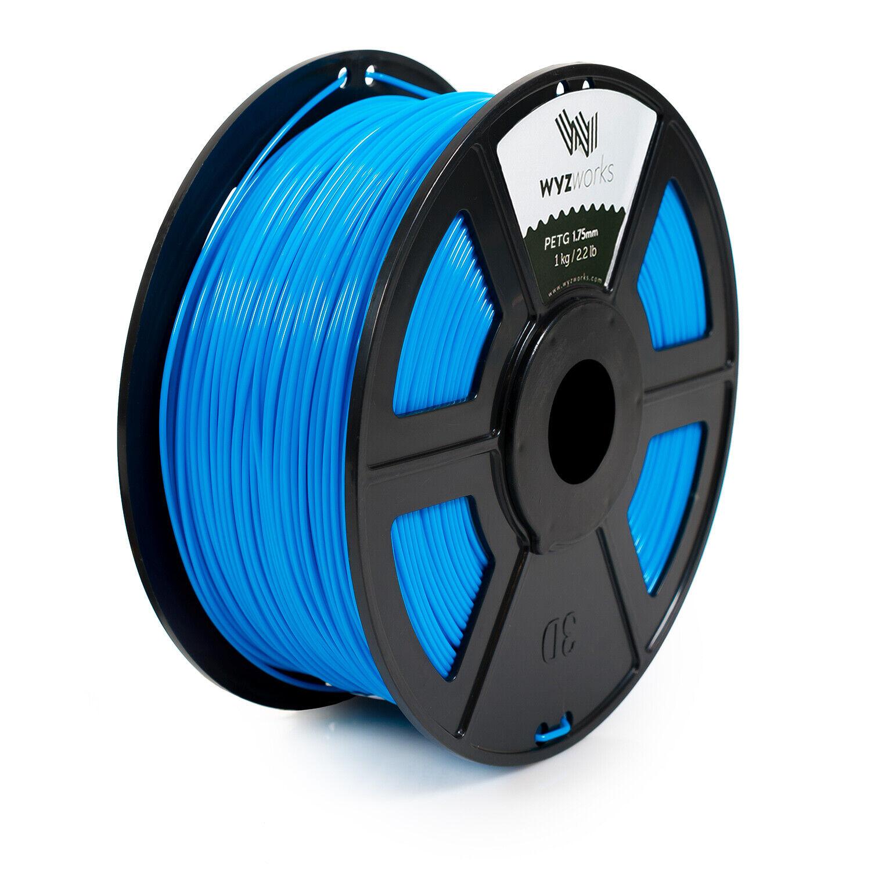 WYZworks 3D Printer Premium PETG Filament 1.75mm 1kg/2.2lb - SKY BLUE