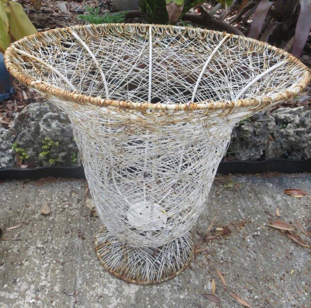 Antique Large Garden Planter Wire Urn Patina Shabby Chic 15
