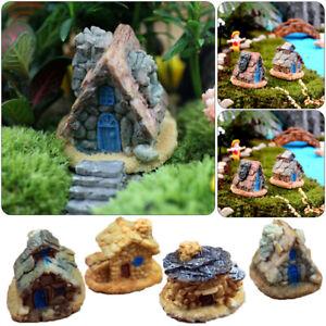 Cottage-Figurine-Fairy-Garden-micro-landscape-Ornament-Resin-Mini-Stone-House