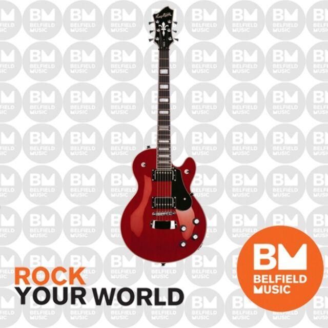 Hagstrom Swede Electric Guitar Wild Cherry Transparent w/ Hardcase - Brand New