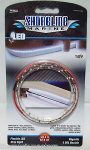 "12V White LED FLEX LIGHT Tape Strip 26.9"" Car Boat RV Camper Motorcycle Lighting"