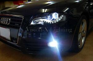 2x H11 Bulbs Fog Light Led White 6000k Resistors Canbus Audi A4