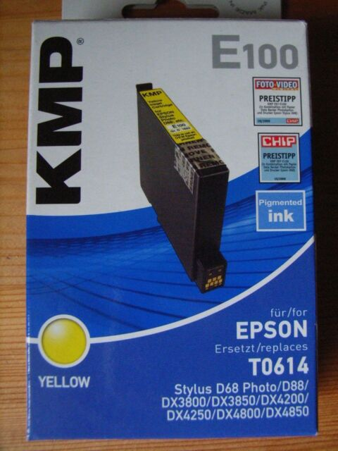 KMP Tintenpatrone gelb für/ersetzt EPSON T0614 Gr. 1603 gelb Originalverpackung
