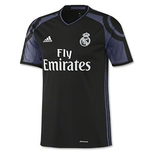 adidas Youth Real Madrid 16 17 Third Jersey Black Purple White ... 56b67f7c14db6