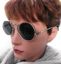 Sonnenbrille Nickelbrille in Silber/Graublau Retro Vintage 70er Rar UNISEX (69)