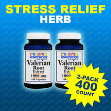 Valerian Root 1000mg 2 Pack 400 Capsules Max Strength Relax,Sleep,Herb Made USA