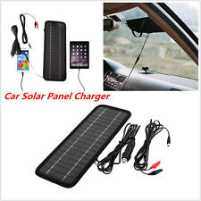 Portable 12V 4.5W Solar Panel Battery Charger Outdoor Backup For Auto Car Truck