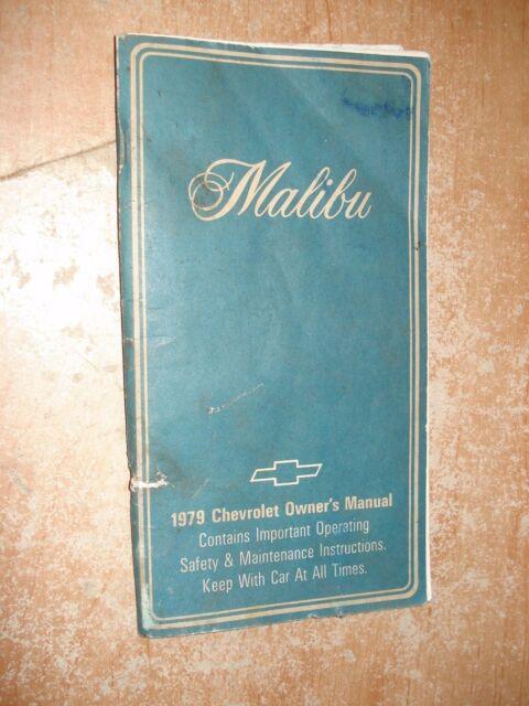 1979 Chevy Malibu Owners Manual Original Glove Box Book