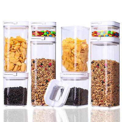 Kitchen 8 pcs Airtight Clear Durable Plastic Food Storage ...