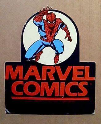 1984 Amazing Spider-man Marvel Comics promo display sign:Romita/80's Marvelmania