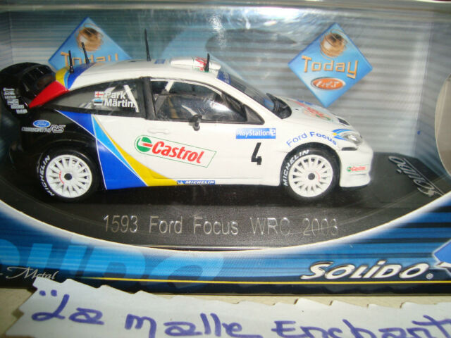 MINIATURE FORD FOCUS WRC 2003 SOLIDO RACING REF 1593 1/43° NEUVE