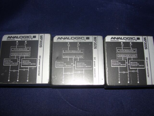 ANALOGIC MP3026 DC POWER CONVERTER LOT OF 3