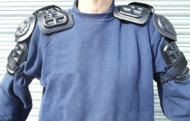 X Police Shoulder & Upper Arm Protective Pads Limb Guards Paintballing B9 Type 2