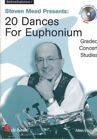 Musical Instruments & Gear Brass Temperate Vizzutti 20 Dances For Euphonium Bass Clef Bk/cd