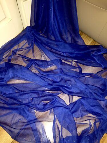 "1 mtr soft royal blue diamante,tutu,decoration,bridal tulle net fabric..45"" wide"