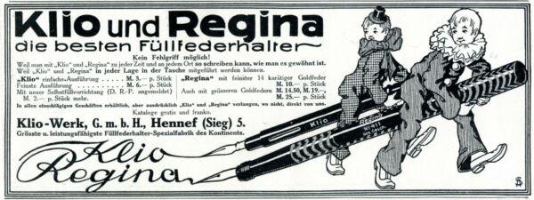 2019 Mode Klio & Regina Füller Hennef Reklame 1912 Clown Karneval Fasching Werbung Blut NäHren Und Geist Einstellen