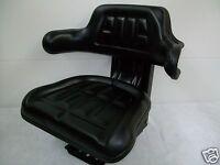 Black Suspension Seat Farm Utility Tractors Waffle Style Cushions Universal Ap