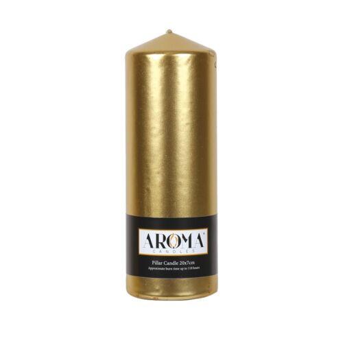 Village candle aroma pilier//église bougie 20x7cm-différentes couleurs disponibles
