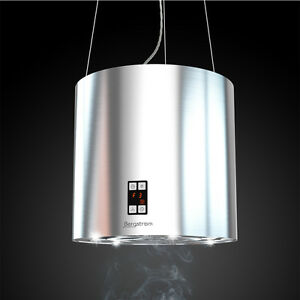 bergstroem dunstabzugshaube inselhaube freih ngend edelstahl silberfarbend 35cm ebay. Black Bedroom Furniture Sets. Home Design Ideas