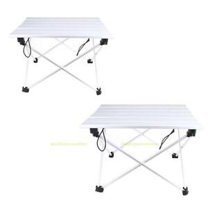 Portable Aluminum Roll Up Table Folding Outdoor Camping
