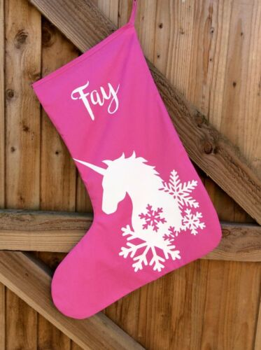 Large Personalised Gift Xmas Gift Unicorn Theme Unicorn Christmas Stocking