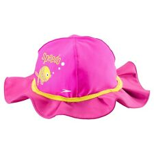 c28fe1faa0a B37 Speedo Baby Hat UV 50 Bucket Swimming Aqua Pink Trim Fish Size S ...