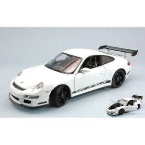 WELLY-WE8015W-PORSCHE-911-GT3-RS-2007-WHITE-WITH-BLACK-STRIPS-1-18-DIE-CAST