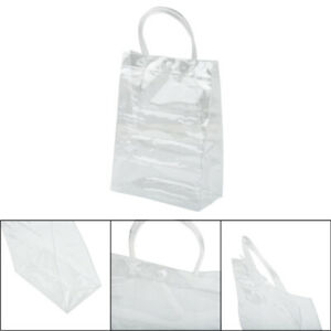 Women's Tote Bag Storage Shopping Clear Pouch Shoulder Purse See Through Handbag