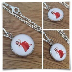 Emoji-Salsa-Dancer-Red-Dress-Girl-Charm-pendant-necklace-txt-geek
