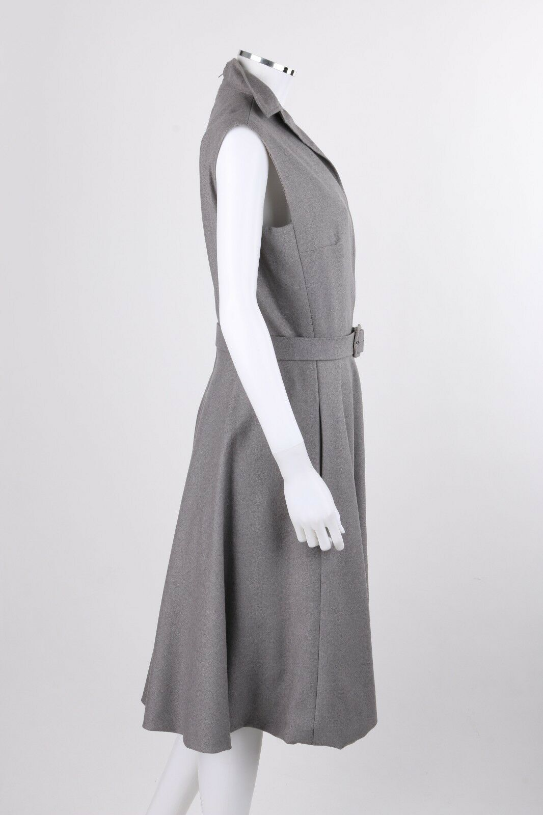 PAULINE TRIGERE c.1980's Gray Wool Extended Shoul… - image 3