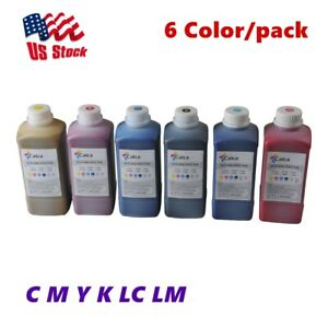 US Stock 6 Color Calca Compatible Roland ECO Solvent Ink C M Y K LC LM
