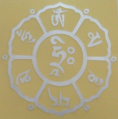 Buddhist Hindu Round Sticker Buddha Eyes 10.8cm Single Sided Various Colours