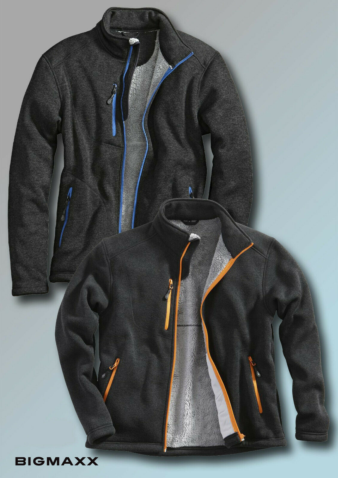 Fleece Jacke POLAR Gr M-3XL Herren Vlies Bluse RV Übergangsjacke Schutzbluse