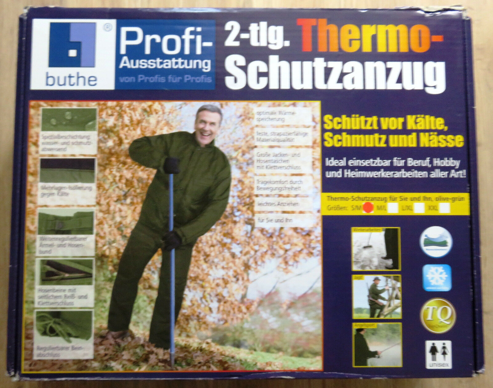 Thermo traje projoector 2 piezas talla S M  impermeable pesCoche caza Ejército verde oliva nuevo  mejor precio