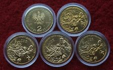 POLAND SET OF COINS 2 ZL 350 YEARS DEFENSE OF JASNA GORA 2005 LOT 1 PC CAPSULE