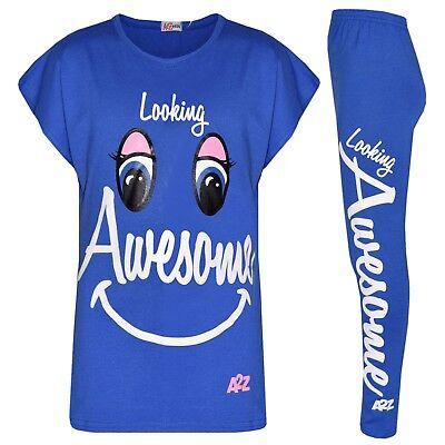 2019 Moda Bambine Blu Reale Looking Stupenda Stampa Decorativa Di Marca T Shirt &