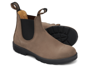 BLUNDSTONE 1941 STONE NUBUCK LEATHER LINED ALL WEATHER CHELSEA BOOT