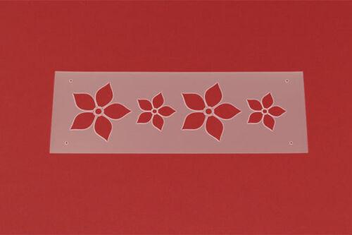 Schablone Bordüre Floral Blume MB21