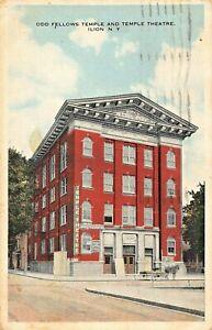 ILION-NEW-YORK-ODD-FELLOWS-TEMPLE-amp-TEMPLE-THEATRE-1916-POSTMARK-POSTCARD