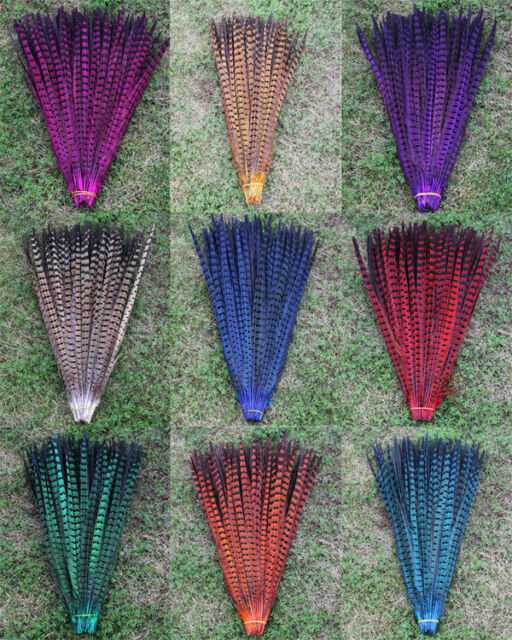 "Wholesale 10,50pcs natural Multi-Colors Dyed 16-22"" pheasant Tail feathers"