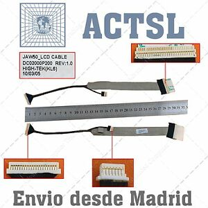 Cable De Video Lcd Flex Para Acer Aspire Dc02000p200 (without Camera Connector) Rpsyaztv-08002836-124027160