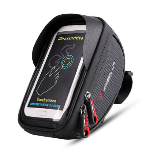 Waterproof Bike Frame Front Bag Pannier Bicycle Cycling Phone Holder Road MTB US