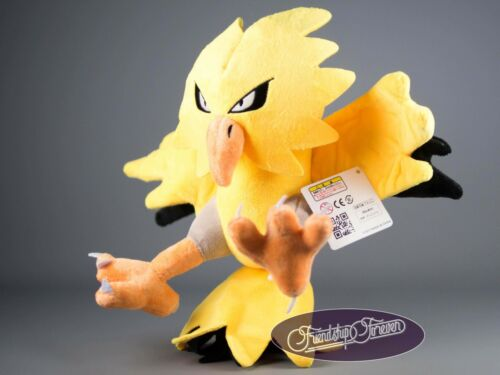 "Pokemon ZAPDOS サンダー Thunder PLUSH POKEMON 12/""//30 cm Haute Qualité UK Stock"