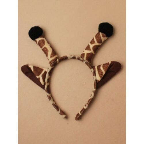 GIRAFFE Ears Headband Fancy Dress Costume Accessory ONE SIZE FITS ALL