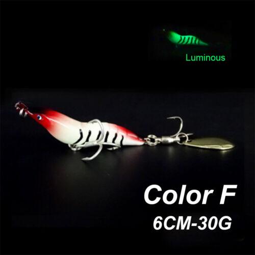 Bait Artificial Squid Jigs Metal Fishing Shrimp Lure Metal Spoon Hard Lures.