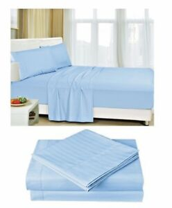 Super Sabanas Striped Bed Sheets Set 4pc 95 Gsm 1800 Tc Brushed 14