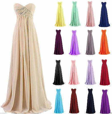 New Chiffon Prom Dress Long Bridesmaid Formal Evening Party Ball Gowns Size 6-22