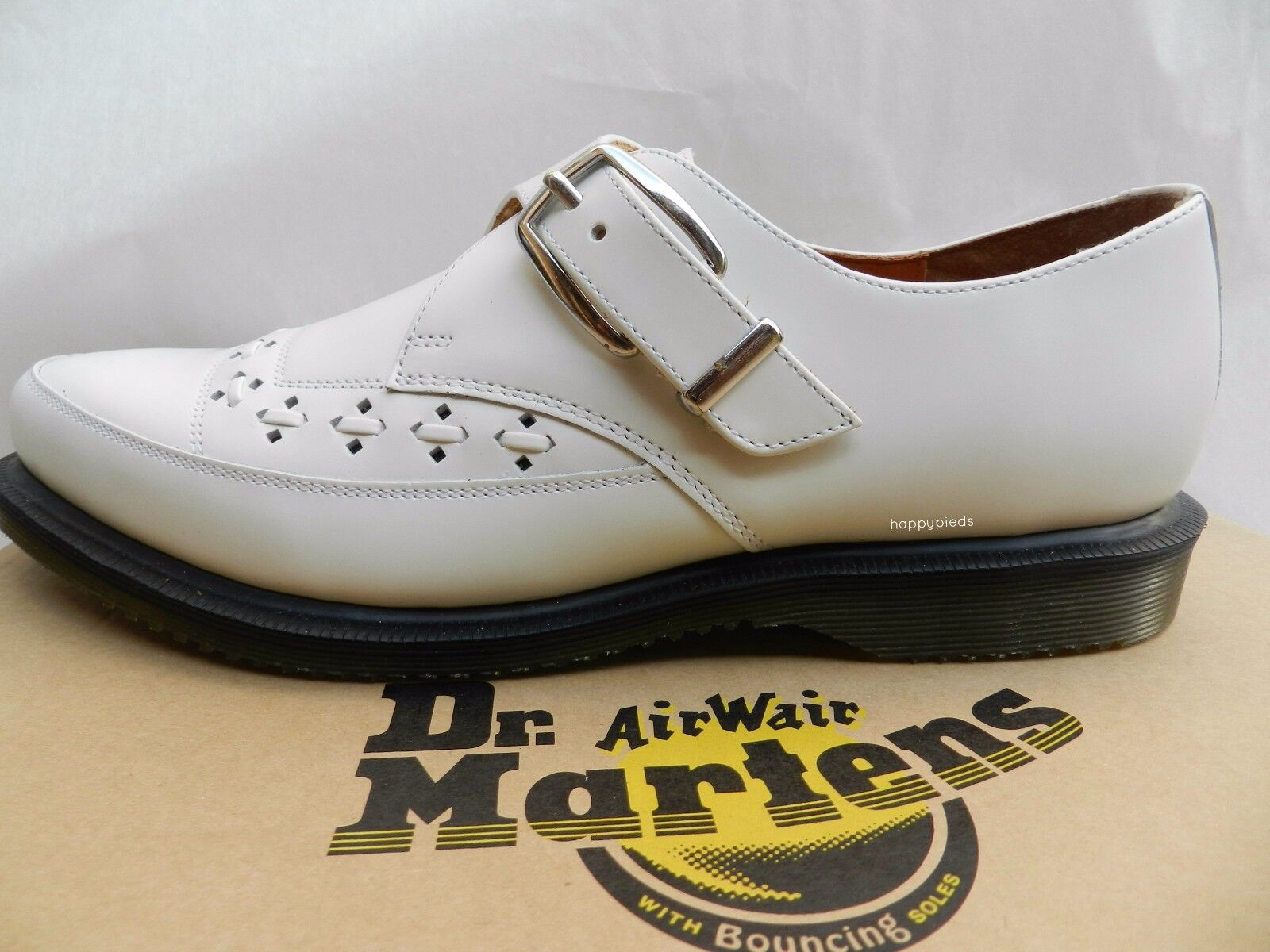 Dr Martens Rousden Creepers zapatos 41 Homme Femme Derby Ballerines Neuf UK7