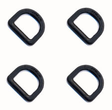 4 x ITW Nexus Black 25mm Plastic D Rings ( DIY Tactical - NSN 5365-33-206-2182